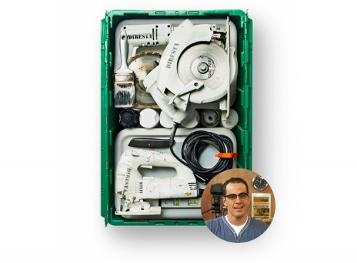 Handyman Jimmy DiResta uses MakeSpace for tool storage in NYC.