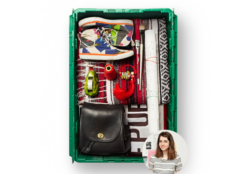 Haley Stark, an art director, graphic designer, and writer in Brooklyn, uses MakeSpace for NYC storage.