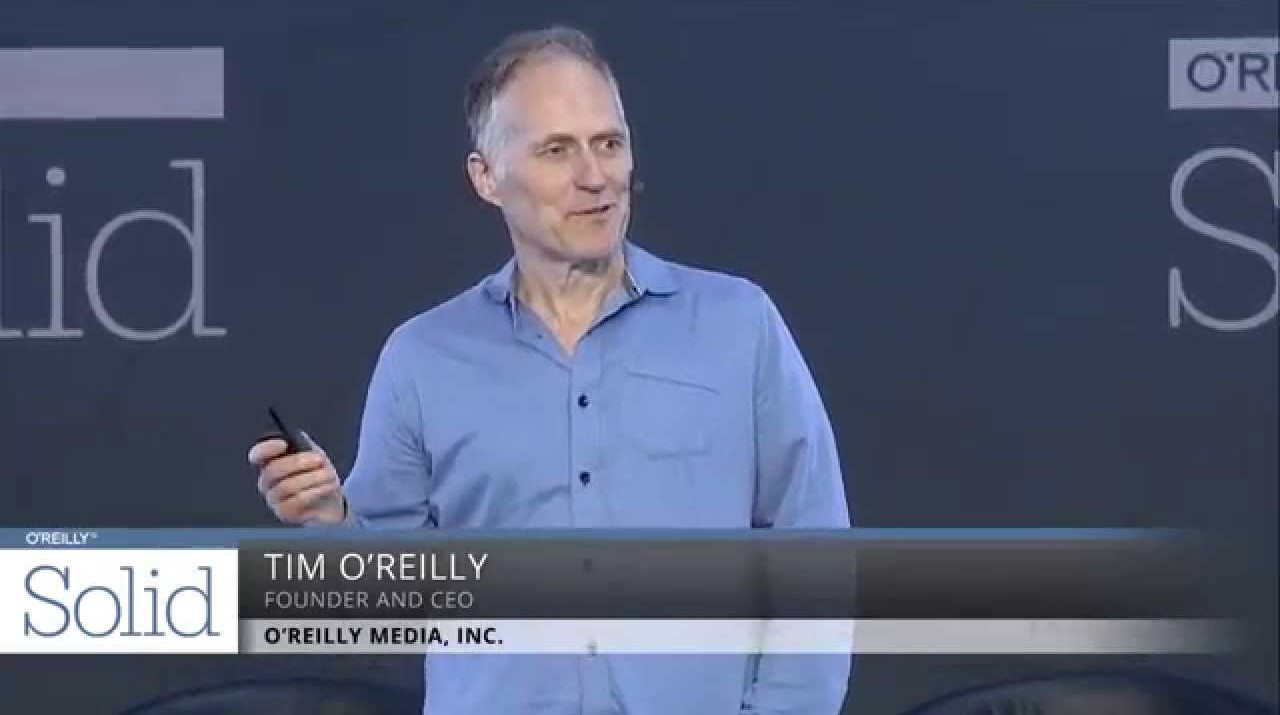 """Tim O'Reilly delivering his Solid 2014 keynote """"Software Above the Level of a Single Device: The Implications."""""""