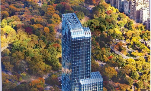 one57, a luxurious 90-story condominium building in midtown manhattan nyc
