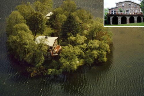 willow island on putnam lake in patterson, ny costs $995,000 (less than the average nyc apartment) and comes with a 3-story four-bedroom home