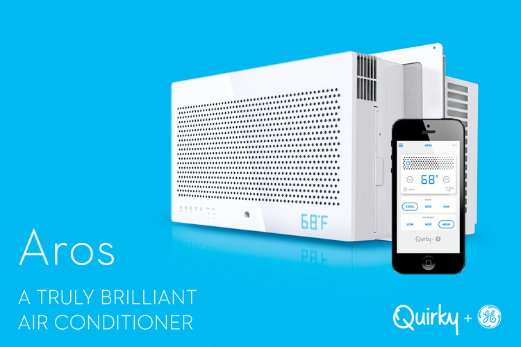 Aros is a smart window air conditioner that you can control from your phone.