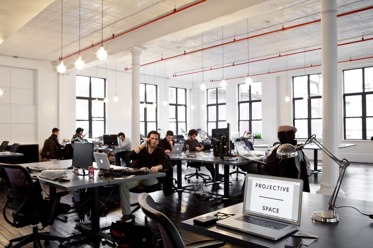 A Projective Space coworking space in New York City.