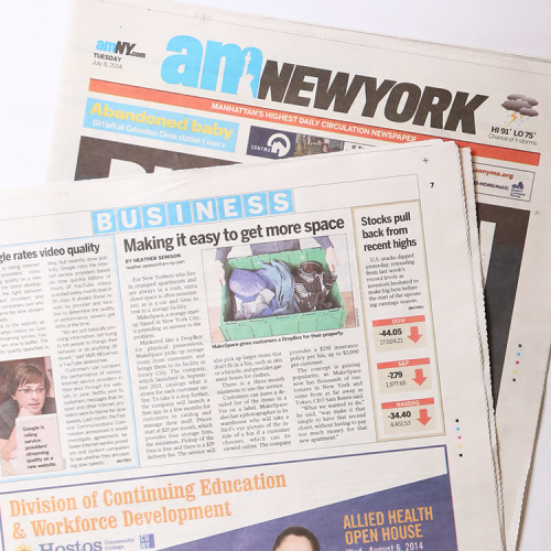 MakeSpace was featured in the July 8, 2014 issue of amNewYork.