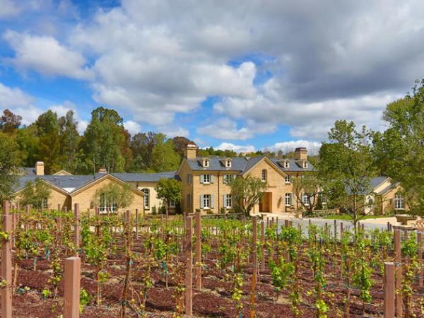 kanye west and kim kardashian's private vineyard at their $22 million mansion in hidden hills, california