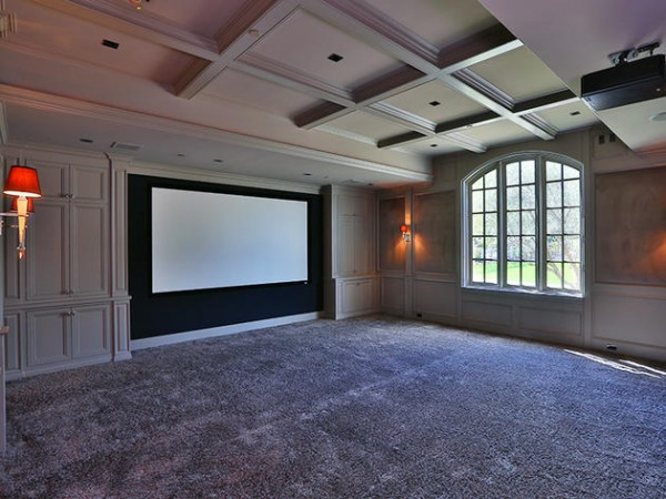 kanye west and kim kardashian's private screening room in their $22 million mansion in hidden hills, ca