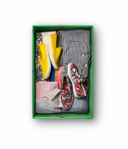 nick wooster's makespace air storage box stores summer clothes and shoes