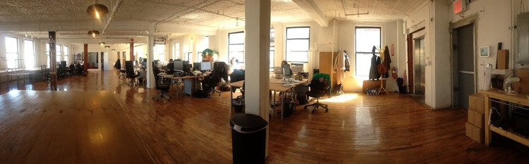 Before Homepolish interior designers rescued MakeSpace's NYC headquarters.