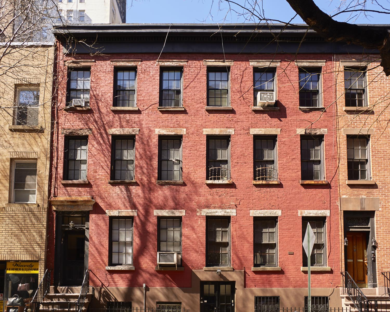 Exterior of Mary Helen Rowell's 90-square-foot apartment in the West Village, Manhattan