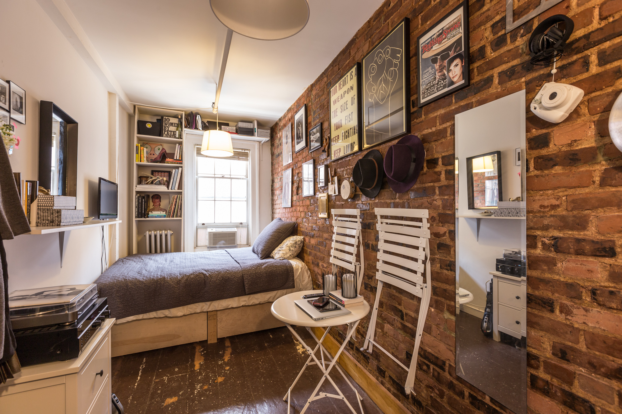 Mary Helen Rowell's famous 90 sq ft micro-apartment in the West Village of Manhattan.