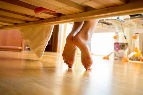 Feng shui tip: clean under bed to circulate positive energy.