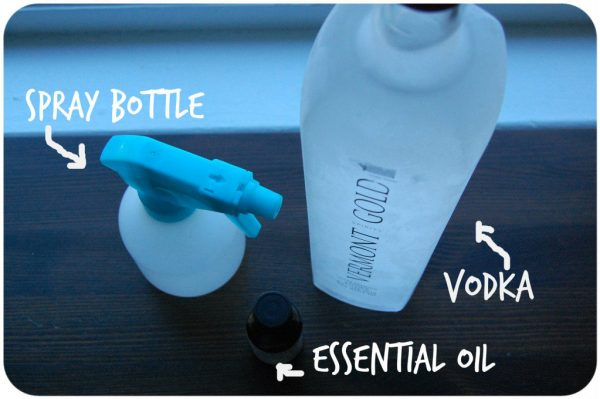 cleaning hack: spray a mixture of vodka and essential oil to remove mattress stains and odors