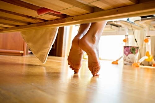 Feng shui and decluttering tip: Don't store anything underneath the bed.