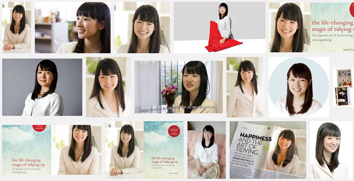 Professional organizer Marie Kondo wears white because it represents cleanliness.