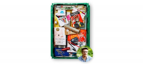 Author and VaynerMedia senior copywriter Jason Donnelly's MakeSpace bin is used for NYC storage.