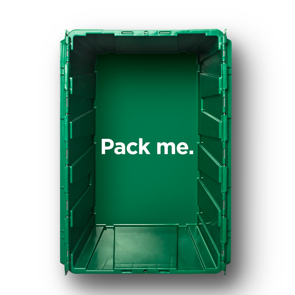 Pack a MakeSpace bin with clothes, shoes, and other stuff you'd like to store in on demand storage.