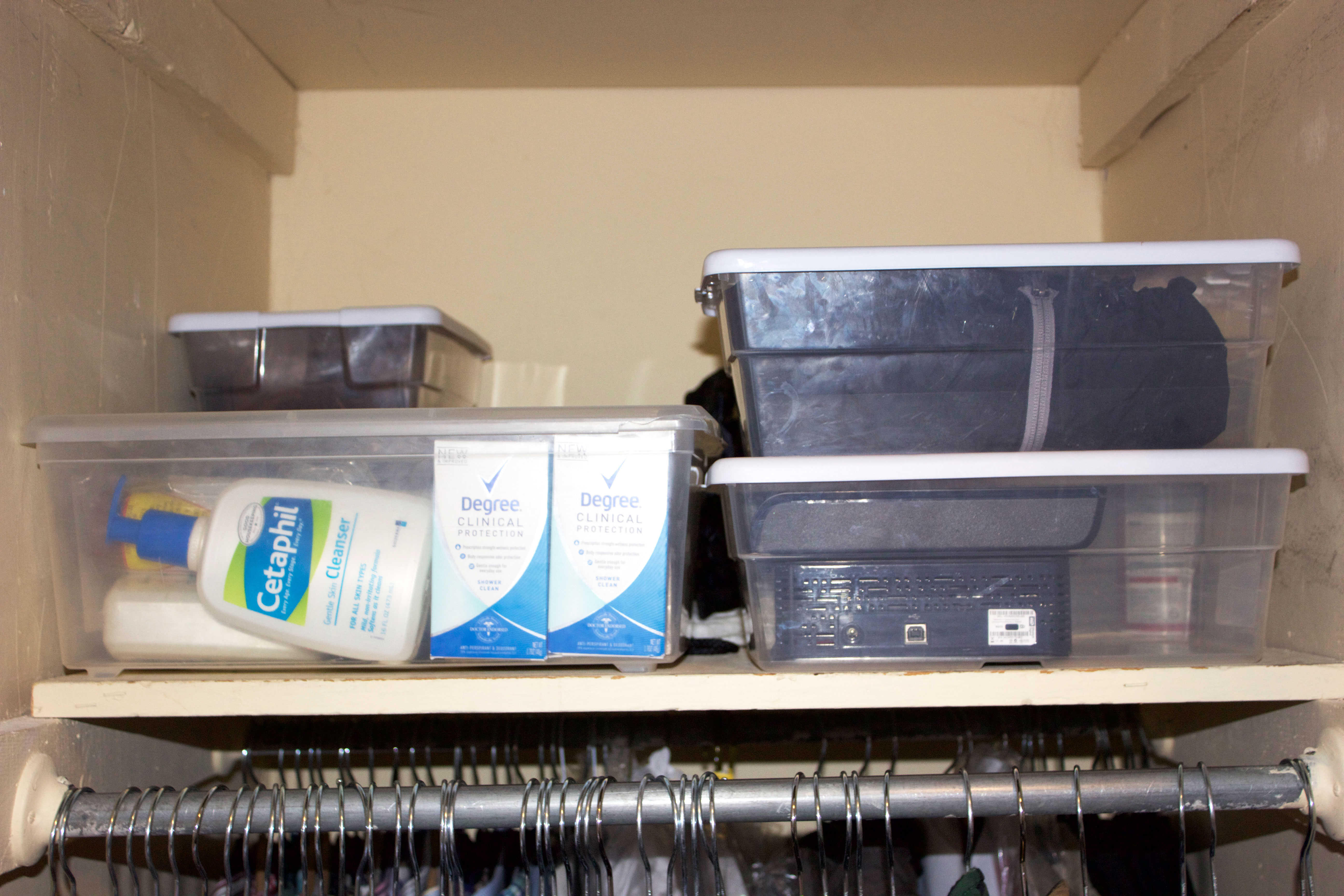 organized closet clear storage containers nyc professional organizer