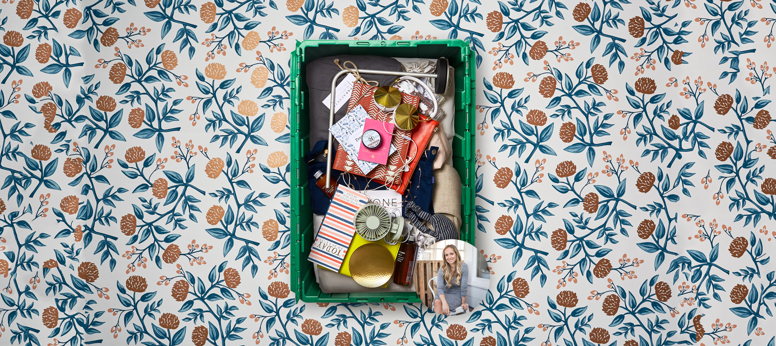 Hailing from Venice Beach, CA, Parachute CEO Ariel Kaye uses her MakeSpace bin for NYC storage.
