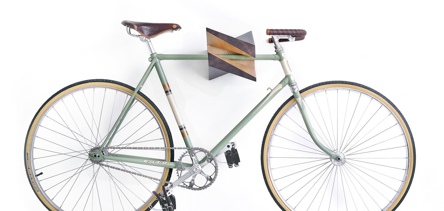 Etonnant The Wooden Iceberg Chestnut Is An X Shaped Bike Storage Rack That Doubles  As Fine