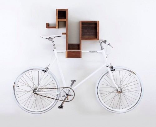 The Tamasine Osher Pedal Pod is bike storage, book storage, and accessory storage all in one.