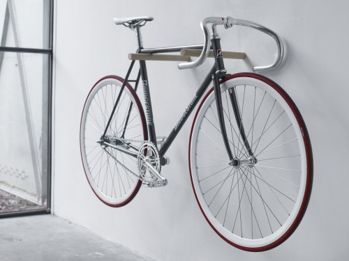 Fluo's Wooden Bike Hook is a minimalist's bike storage dream come true.