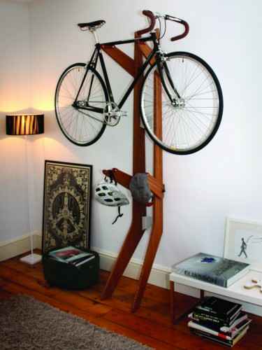 Quarterre S Branchline Bike Storage Rack Is Made Of Wood And Hangs Up To 2 Bikes