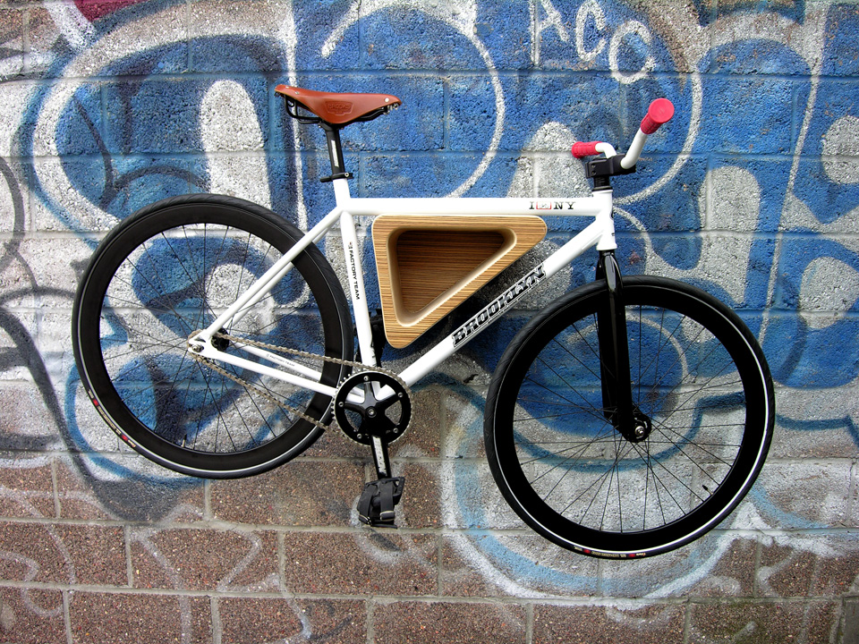 The Bedford Ave Bike Rack By 718 Is A Triangular Bike Storage Solution Made  From Birch