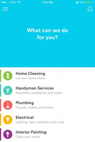 The Handy iPhone app sends a professional cleaner, handyman, plumber, or electrician to your apartment.