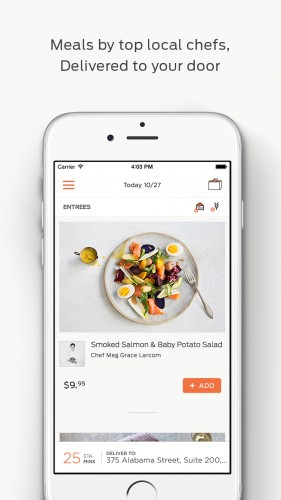 Use the Munchery iPhone app for on-demand gourmet, healthy food delivery.