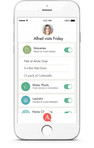 The Alfred iPhone app is an on-demand butler service that does your chores, tasks, errands, and to-do's.