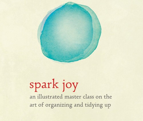The front cover of Marie Kondo's new book 'Spark Joy' to be released on January 5, 2016.