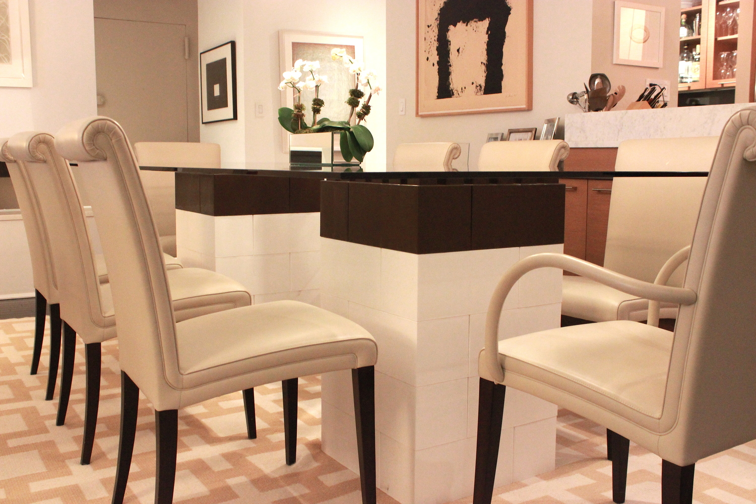 This piece of giant LEGO furniture is a dining table made of EverBlocks.