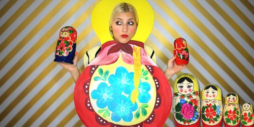 This creative Halloween costume is a matryoshka doll.
