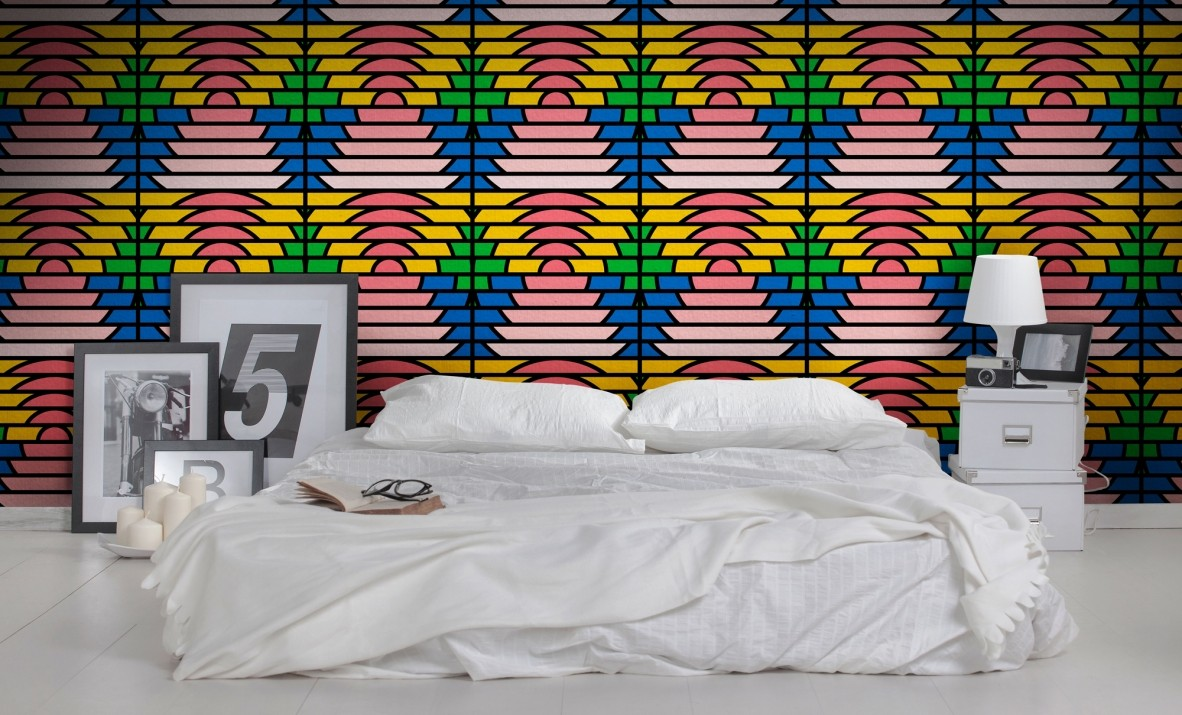 """Paradise"" Feathr wallpaper by London-based designer Peter Judson."
