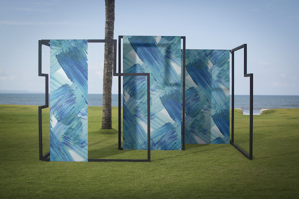 """Plato"" Feathr wallpaper by Helsinki-based textile designer Aoi Yoshizawa"
