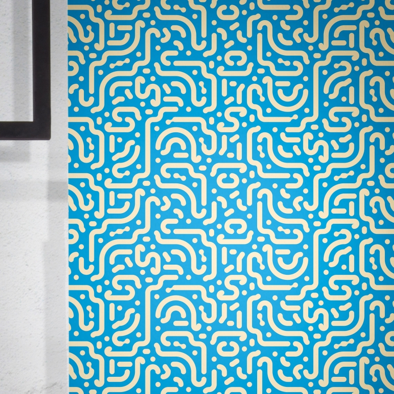 """Stroke The Wallpaper II"" Feathr wallpaper by Cape Town-based illustrator and designer Chris van Rooyen."