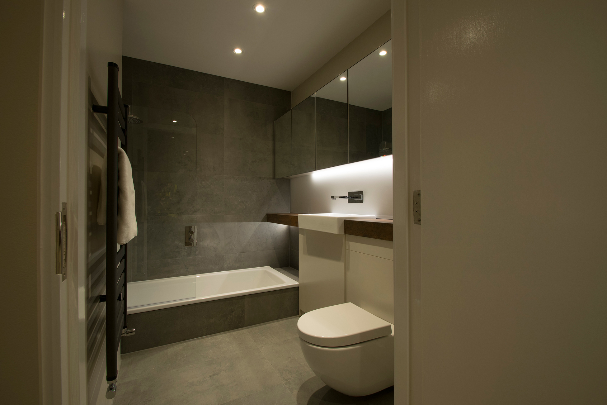 YO! Home's sleek, modern, and luxurious bathroom.