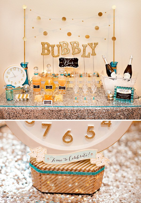 16 dope diy decorations for a dope new year 39 s eve party for Fun new years eve party ideas