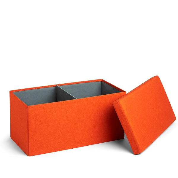 Orange Box Bench Storage Solution Poppin