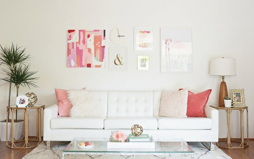 An easy decorating idea to make an apartment look bigger is to keep things minimal and clean, and use multipurpose furniture with storage.