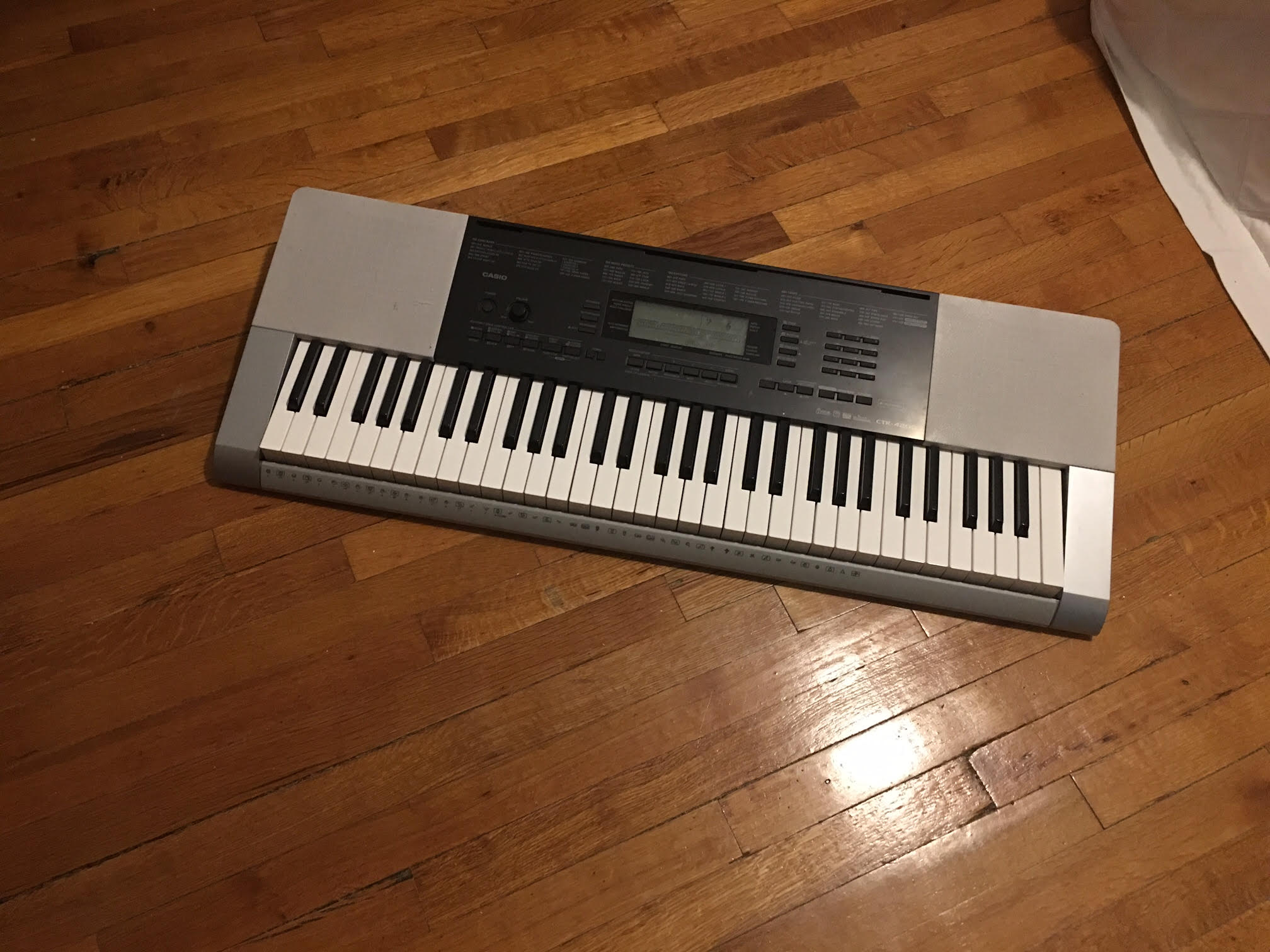 Alex Frank wants to put his electronic keyboard in MakeSpace storage.