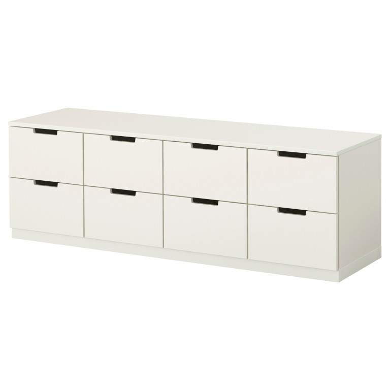 White Ikea Nordli 8 Drawer Dresser