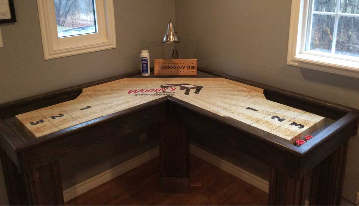 Hockey beer pong table - Woody S Corner Shuffleboard Table
