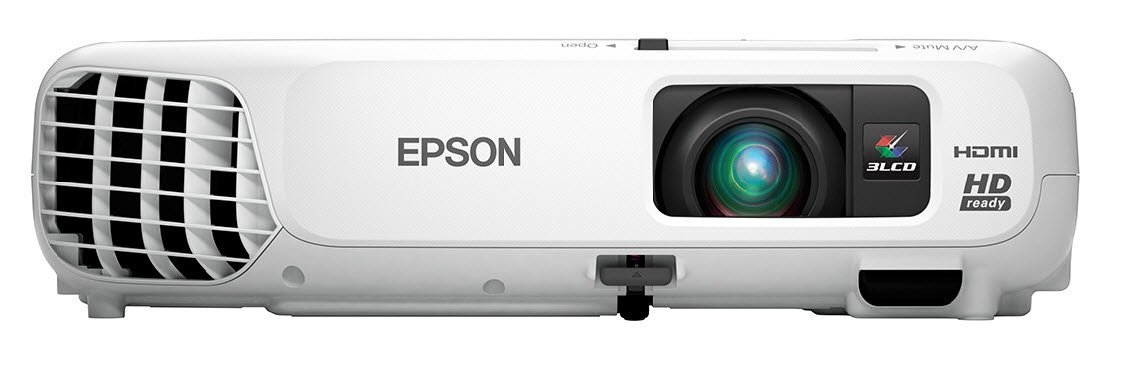 An Epson PowerLite Home Cinema 730HD