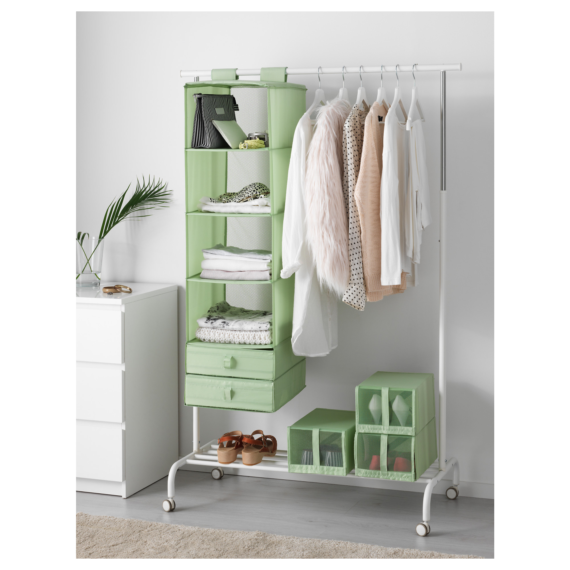 12 super creative storage ideas for small spaces for Wardrobe organizer ikea