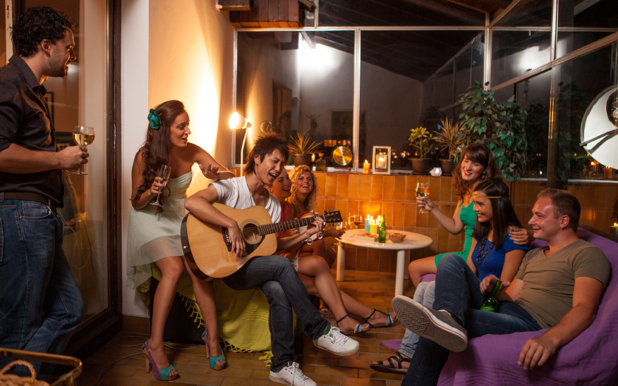 Host a housewarming party with your significant other in your apartment.