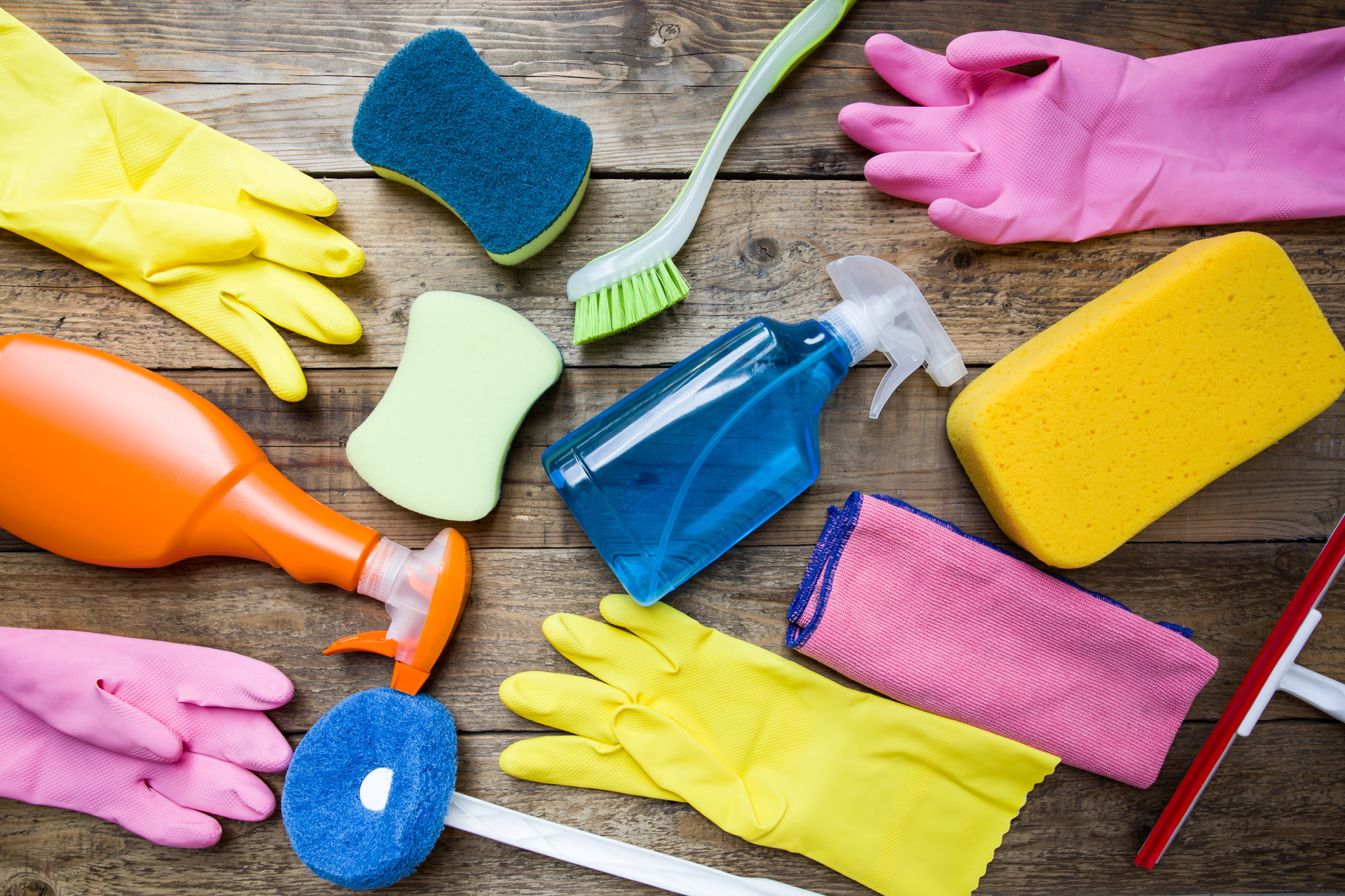 Cleaning together is an easy way to share a tiny apartment with your girlfriend, boyfriend, fiance, husband, or wife.