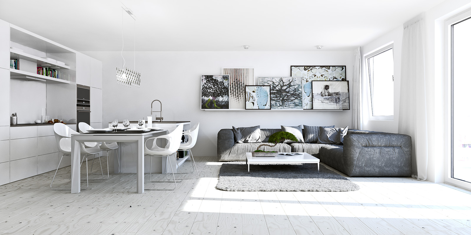 11 ways to divide a studio apartment into multiple rooms for Interior design studio berlin