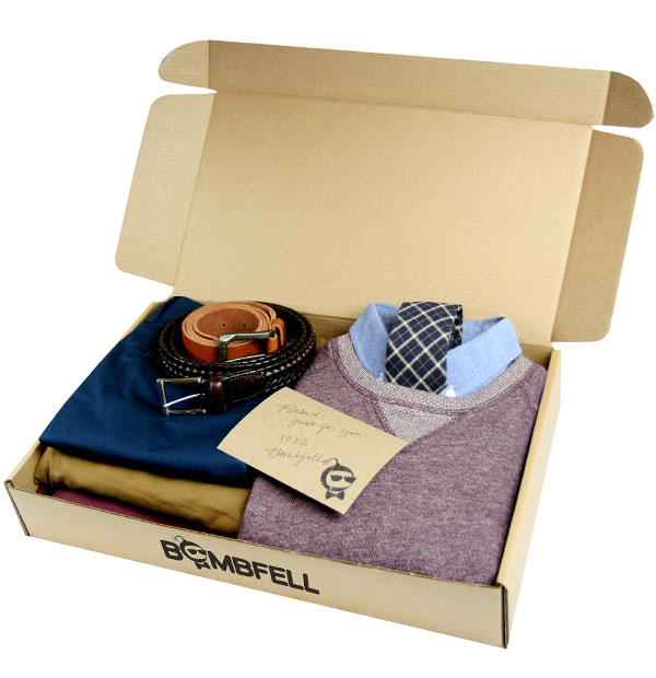 A Bombfell subscription is a cool Valentine's day gift for men.