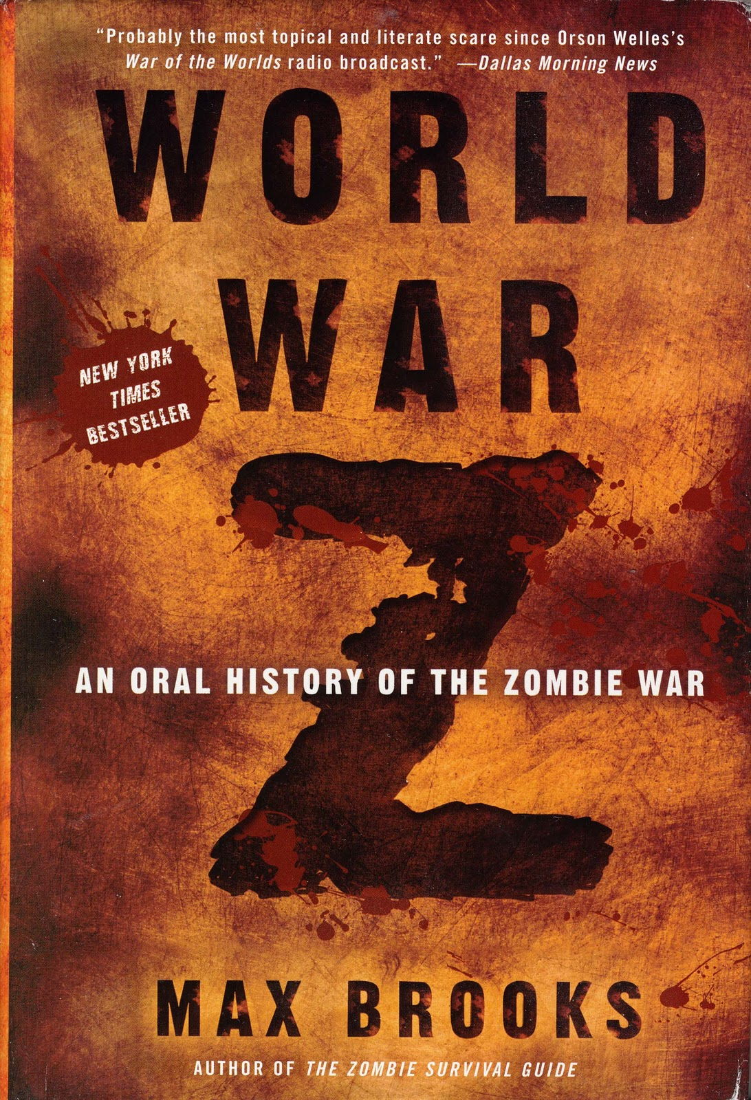 The Max Brooks World War Z book cover.